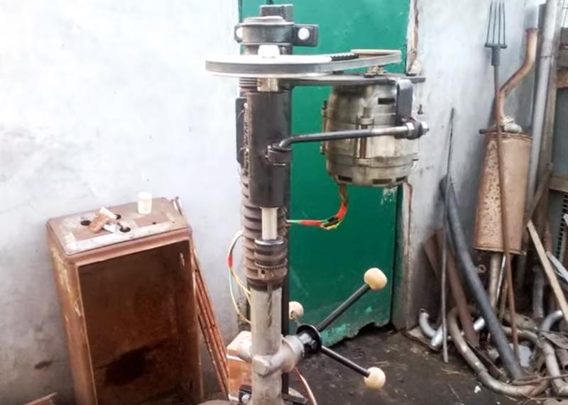 Сверлильный станок на основе рулевой рейки