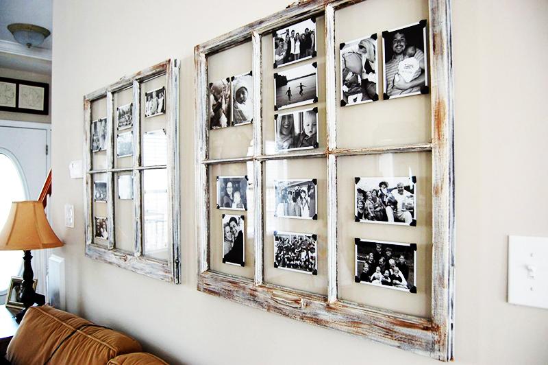Для красивого оформления чёрно-белых фотографий можно использовать картонные уголки, напоминающие способ раскладки фото в старых альбомах