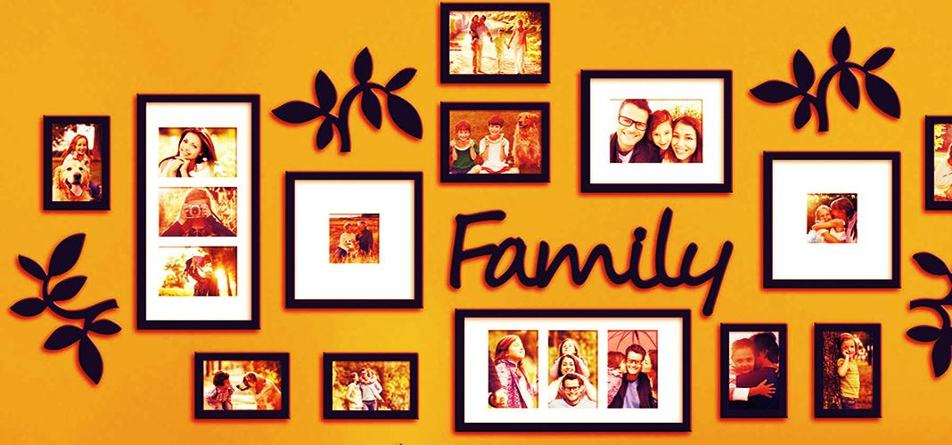 8 необычных способов оформления семейных фотографий
