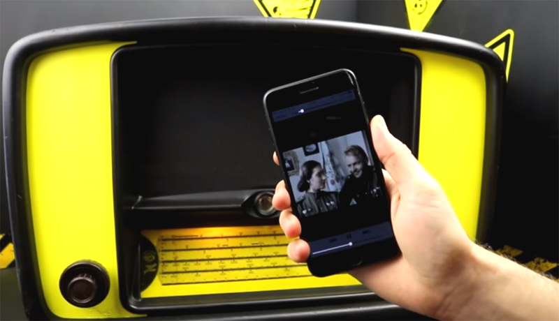 Вот так со смартфона можно слушать музыку через ламповый приёмник