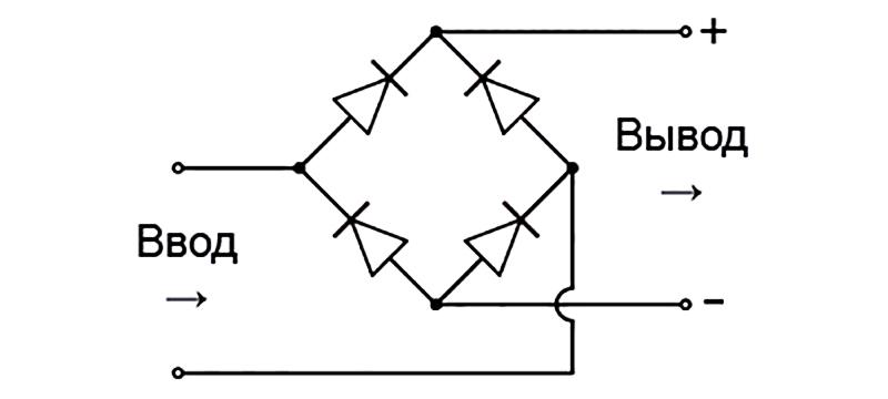 Схема однофазного моста