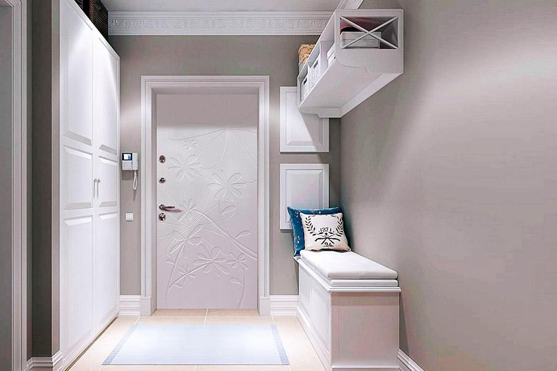 Сочетание серого и белого цвета всегда является выигрышным вариантом вне зависимости от размеров помещения. При подборе мебели обращайте внимание на текстуру. Поверхность мебели должна быть либо глянцевой, либо матовой, но не смешанной