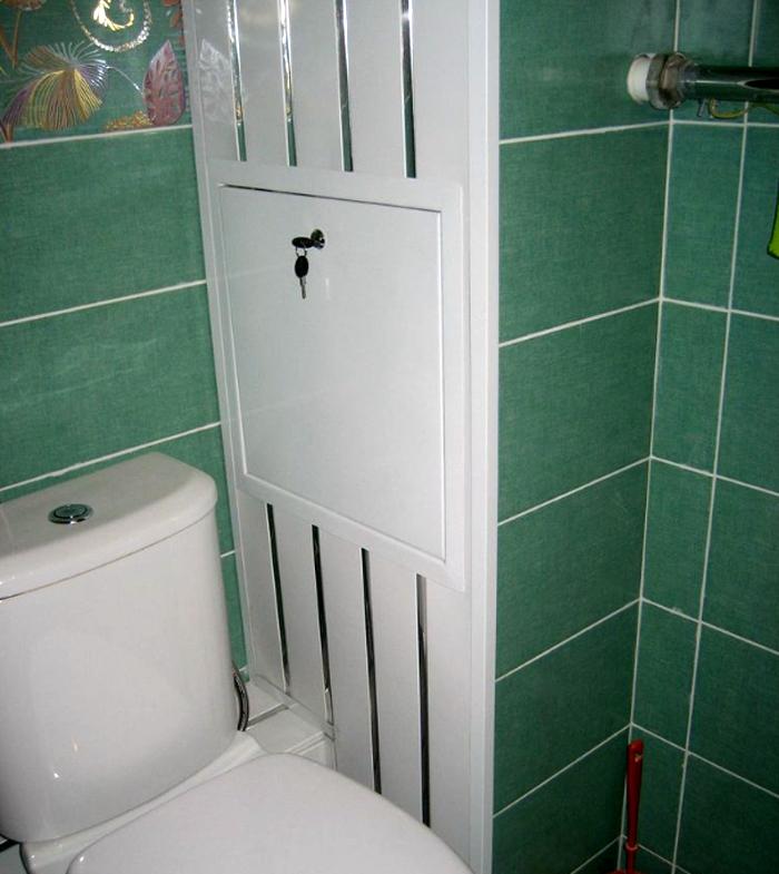 Вариант сантехнического короба в туалете