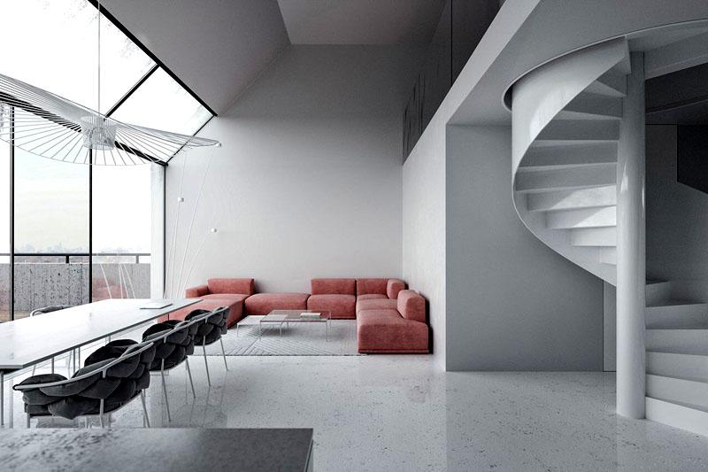 Используйте необычные подушки для стульев и большую люстру современного дизайна, чтобы украсить интерьер