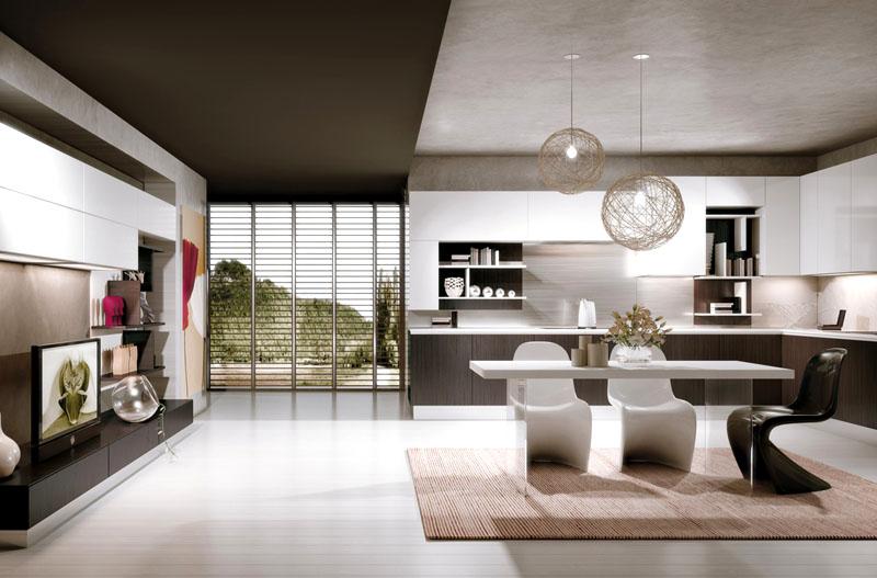 Выбирайте подвесные лампы разной формы – это характерно для стиля минимализм