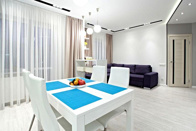 Используйте светлые оттенки при оформлении стен, пола и потолка