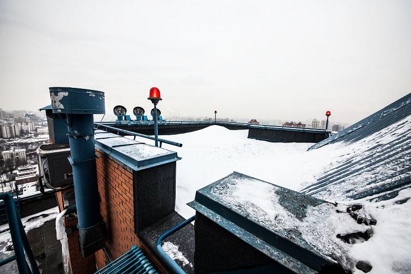 Вертолётная площадка на крыше