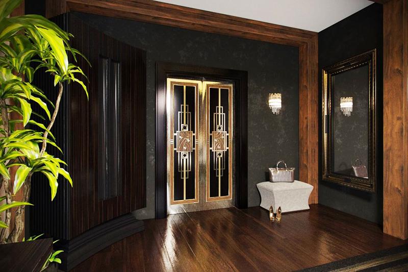 Красиво и необычно оформляют межкомнатные двери в стиле арт-деко