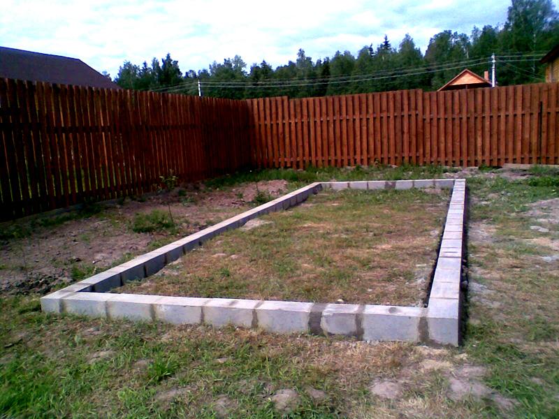 Площадка и фундамент под теплицу
