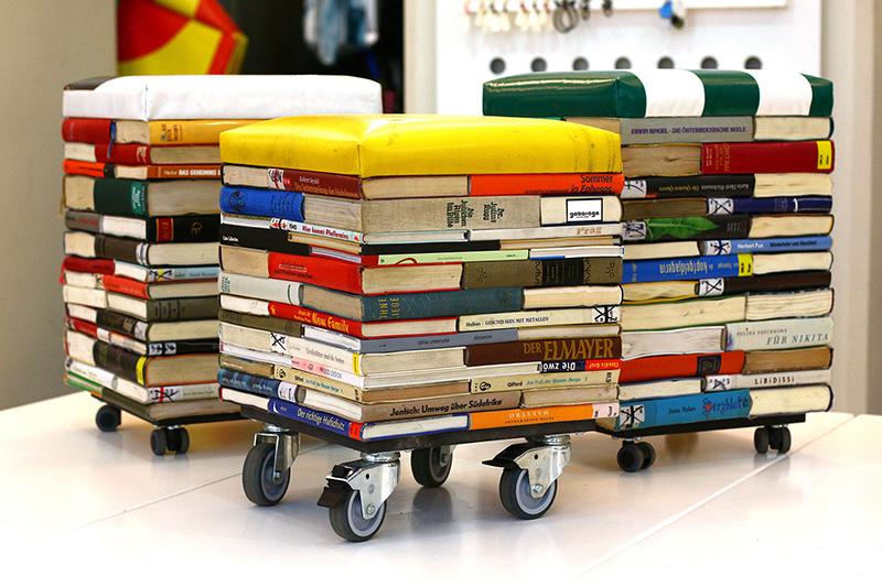 Том-10 неожиданных идей по использованию старых книг