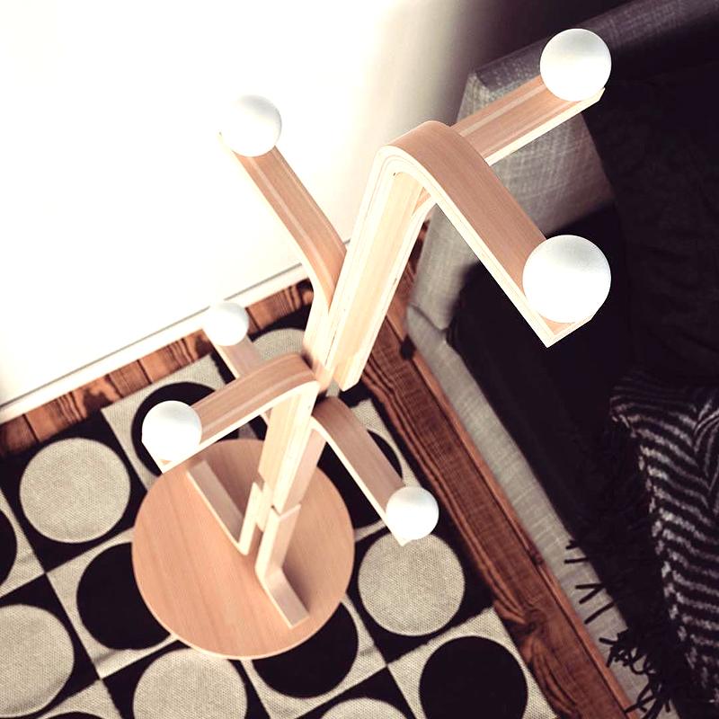Вариант дизайнерской лампы для прихожей