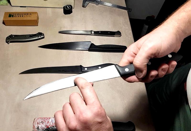 У филейного ножа должна оставаться тонкая блестящая кромка