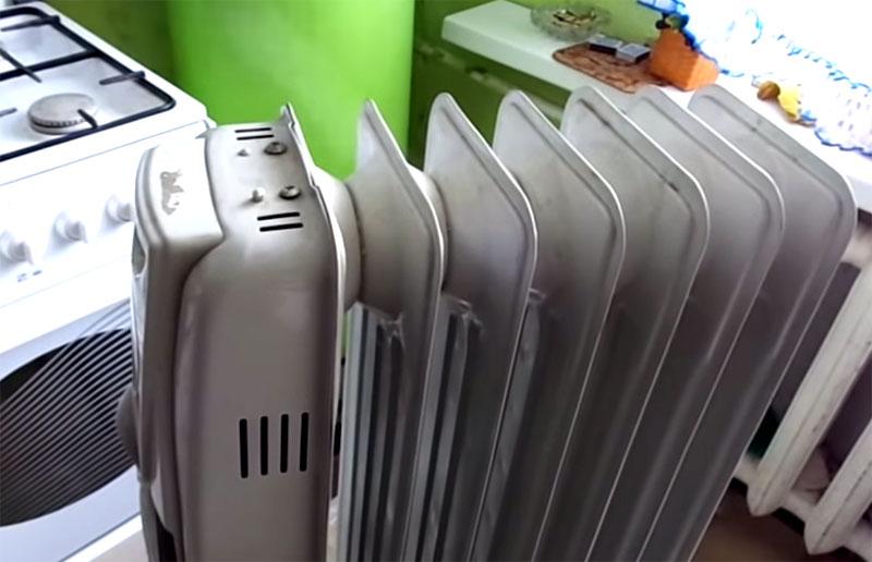 Замена ТЭН масляного радиатора