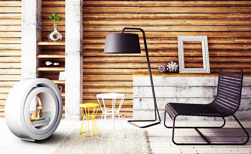 Сделайте одну стену в квартире из дерева. Комната сразу преобразится и примет стильный, современный вид