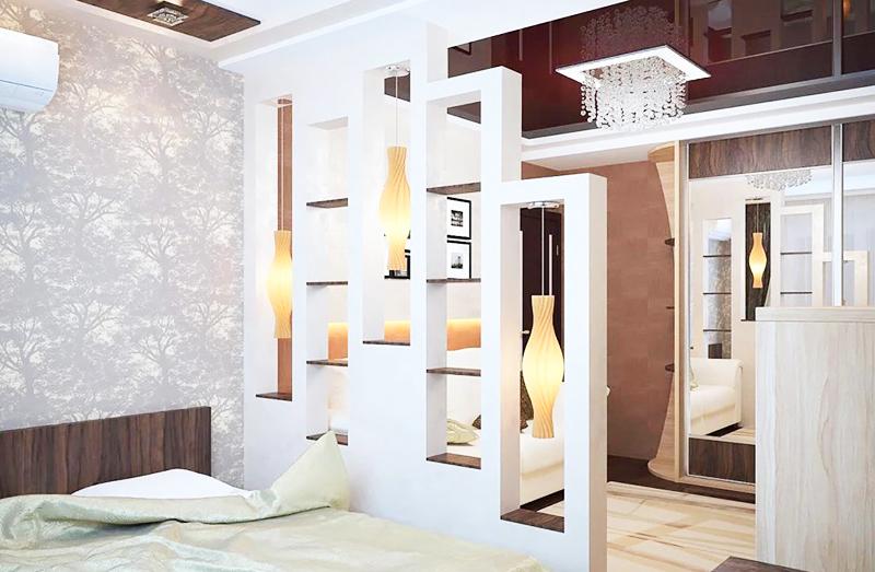 Для малогабаритной квартиры перегородки – лучшая возможность выделить функциональные зоны, не урезая пространство
