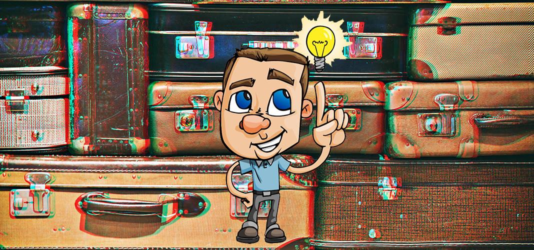 8 идей применения в интерьере чемодана