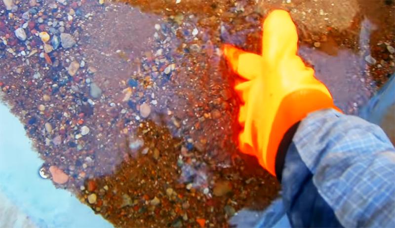 Песчано-гравийную смесь необходимо тщательно промыть