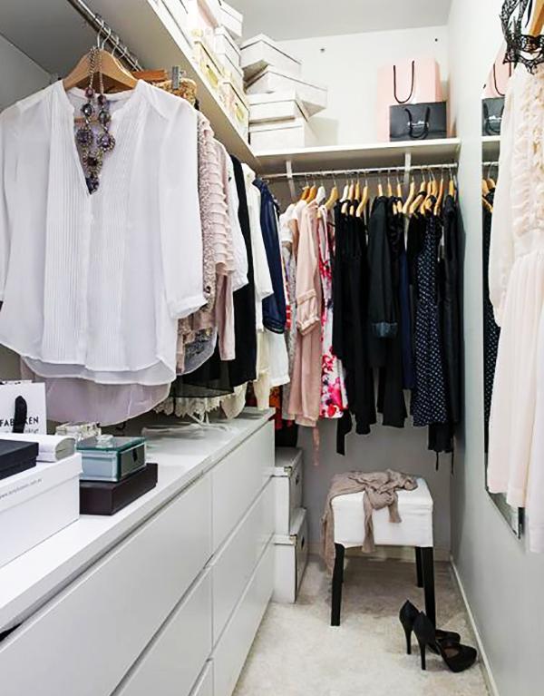 Вариант обустройства гардеробной