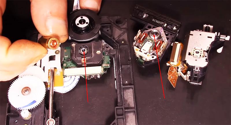 Линзу можно демонтировать с того же привода