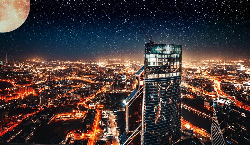 Из окон башни открывается потрясающий вид на Москву
