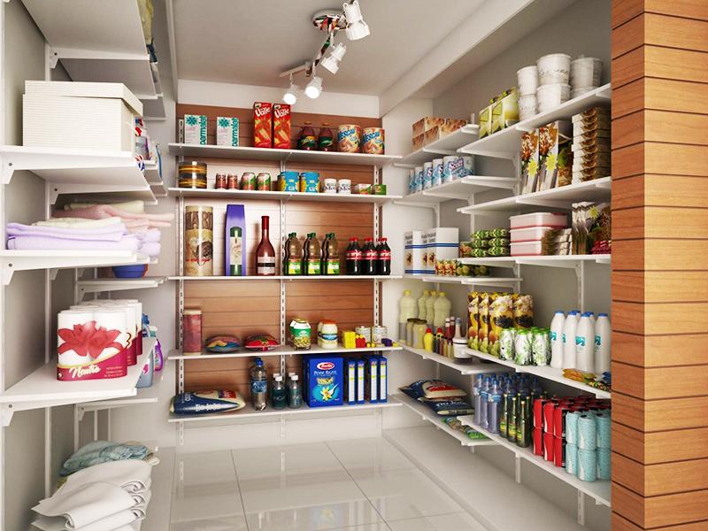 Американская традиция – хранить в кладовке бытовую технику, блендеры и миксеры, кухонные комбайны и другие габаритные приборы. Вы можете повторить нечто подобное у себя дома, если хотите, чтобы на кухне не было ничего лишнего