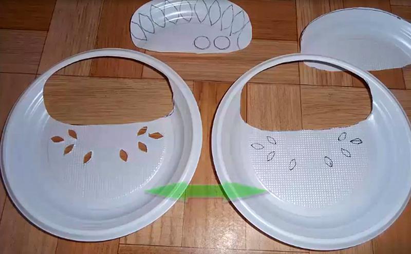 Заготовки для корзинки из тарелок