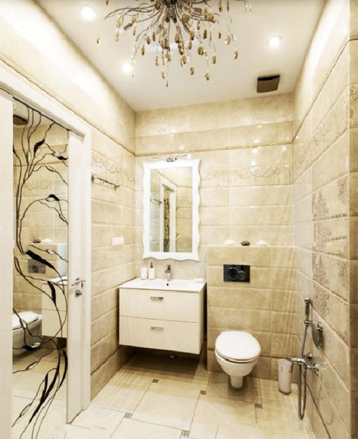 В гостевом санузле установлена инсталляция с гигиеническим душем