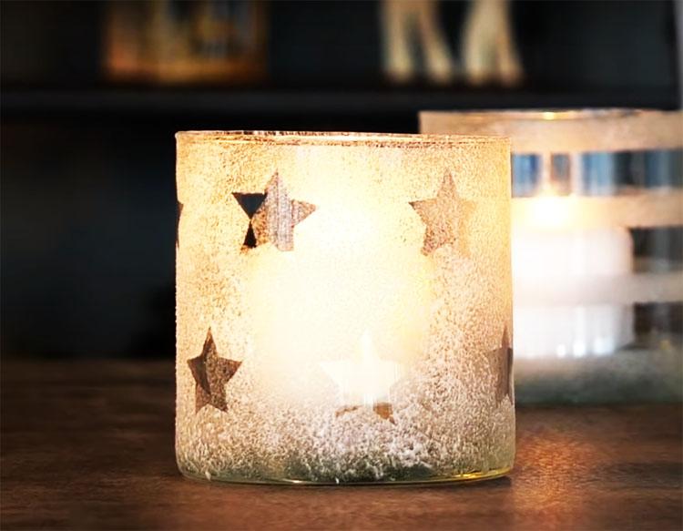 Остаётся только поставить в стакан миниатюрную плавающую свечу, и романтическая обстановка вам обеспечена