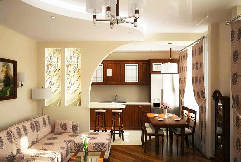 Интересное дизайнерское решение – создание ниш в стене и их заполнение красивыми витражными стёклами