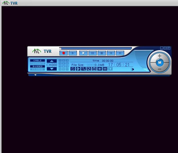 Экран видеомагнитофона и блок управления