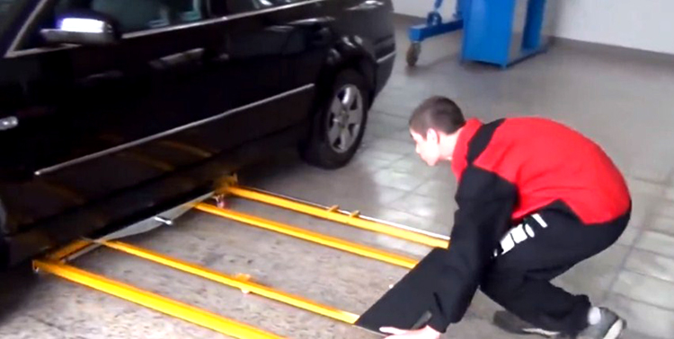 Установка подъёмника под машину