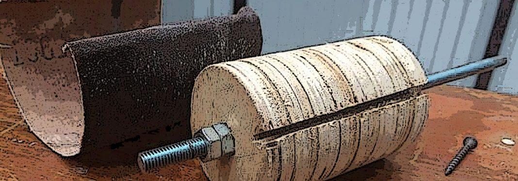 Шлифовальный барабан из остатков фанеры