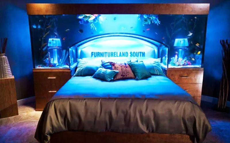 Кровать-аквариум – роскошный предмет интерьера