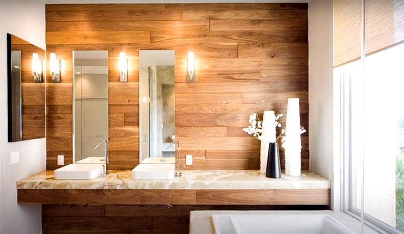 Подберите подходящий оттенок и поместите ламинат на решётку или прямо на стену, как в случае с панелями ПВХ