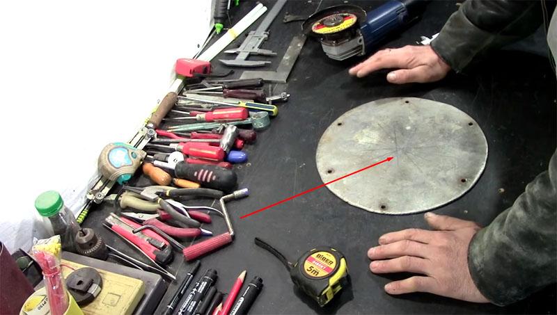Циркуль на болгарку для вырезания идеального круга