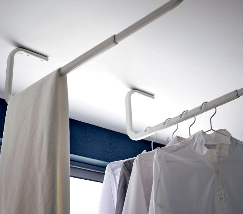 Штанга МУЛИГ для одежды позволит разместить для сушки все постиранные вещи