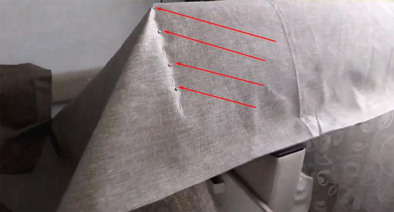 Булавки помогают временно зафиксировать материал в нужном положении