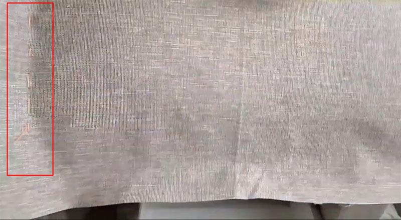 Шов наживлён, булавки убраны, пора поработать на швейной машинке