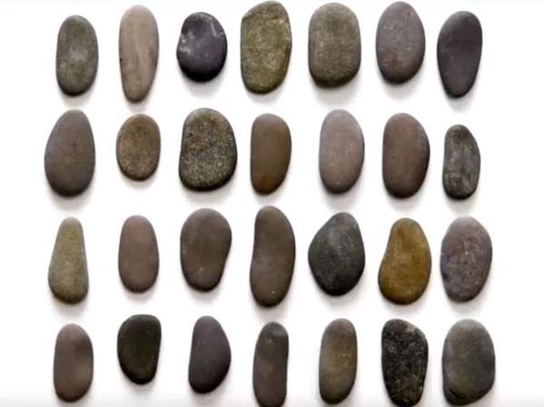 Желательно, чтобы камни были примерно одинакового размера, ведь игроки не должны их запоминать