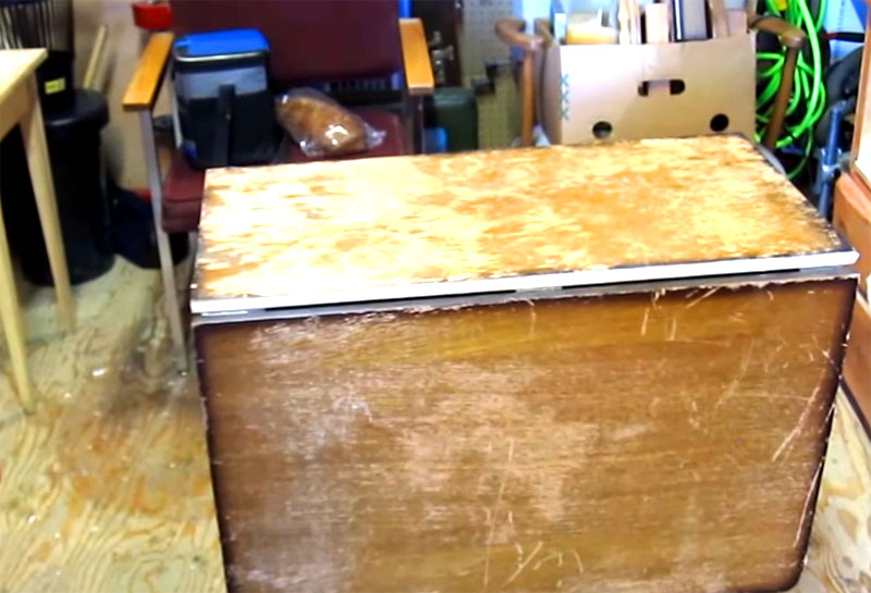 Реставрация старого стола-книжки