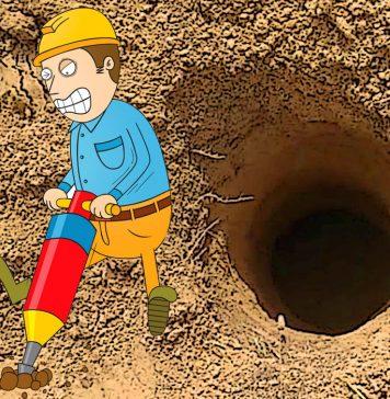 Как сделать скважину под столбы даже в плотном грунте