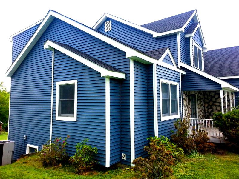 Дизайн домов, обшитых сайдингом – фото