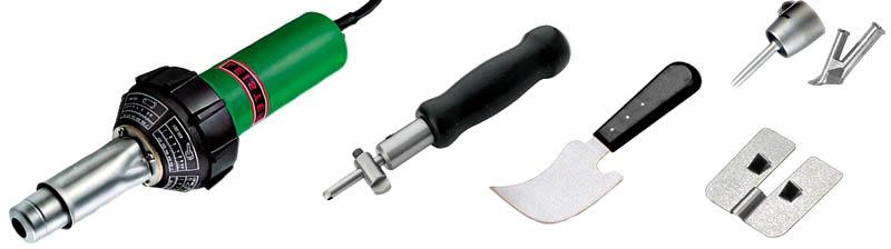 Инструменты для стыковки листов при помощи горячей сварки линолеума