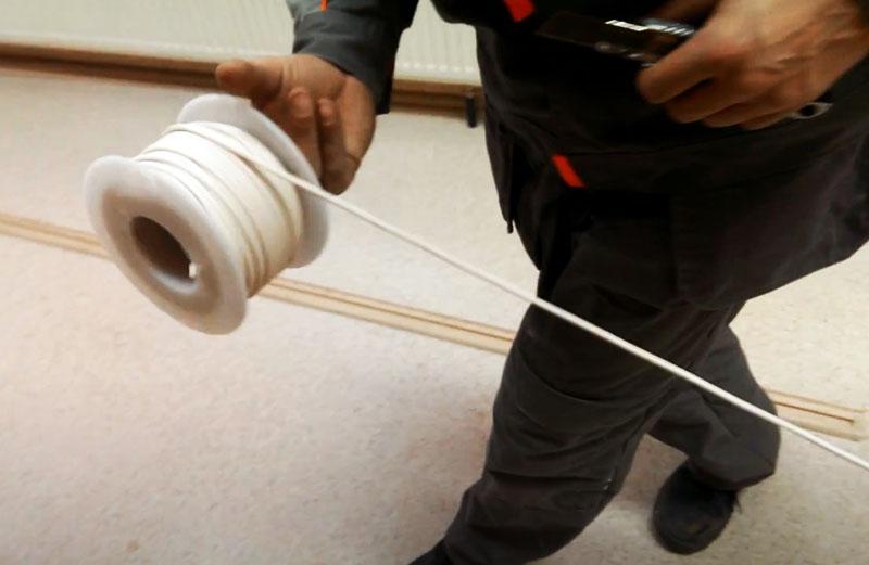Подготовка ленты для спайки листов