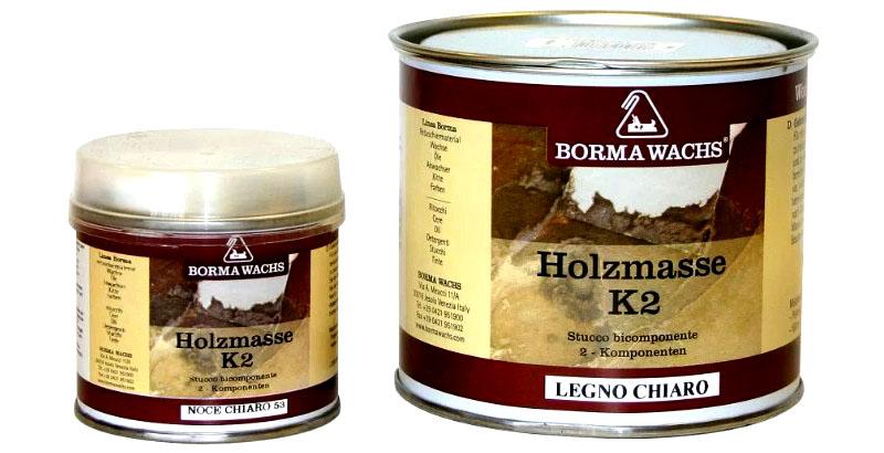 Шпаклёвка Holzmasse фирмы Borma Wachs