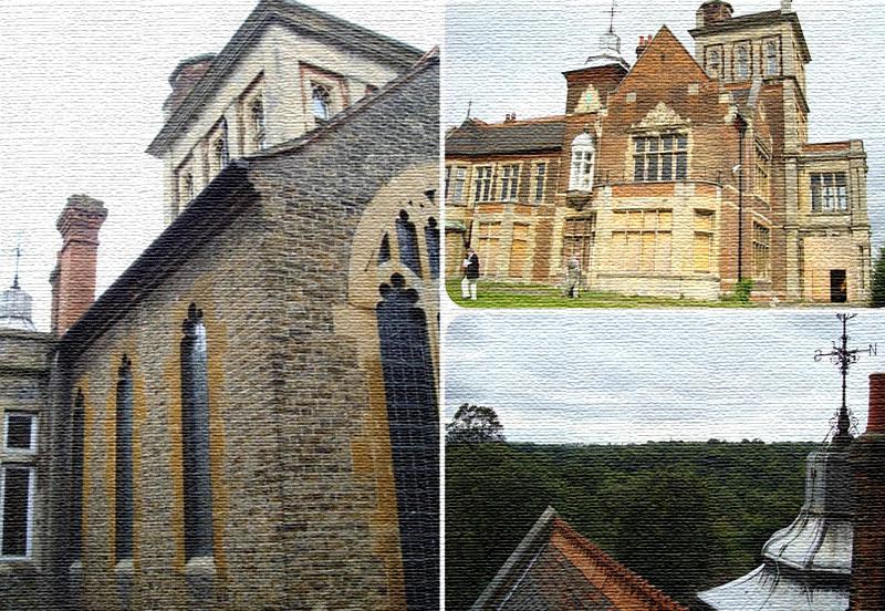 Дом украшают фигурные арочные проёмы и витражные окна