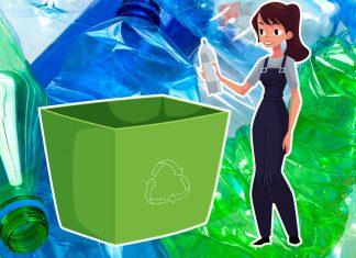 Бак для мусора из пластиковых бутылок