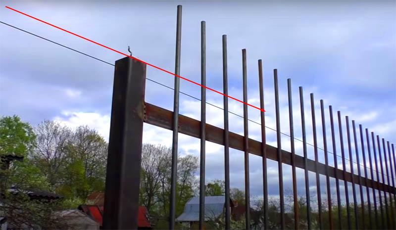 Таким нехитрым образом вы не только создадите идеальную линию, но и сможете определить высоту столбов без лишних замеров