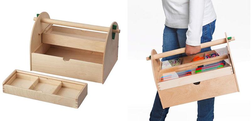 В серии ЛУСТИГТ также есть деревянные бусины, валики для краски и даже ткацкий станок