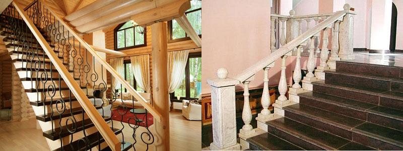 Виды ограждений лестниц: металлическое и деревянное